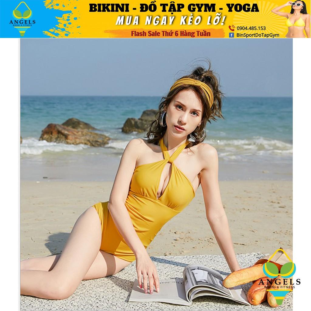 Bikini,Bộ Đồ Bơi Body Tạo Khe Màu Vàng Siêu Hot, Hàng Nhập,BHN005