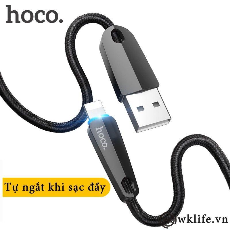 Cáp Sạc HOCO U35 tự ngắt điện thông minh dành cho Iphone 1,2m và 2m
