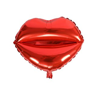 2pcs Red Lip Foil Balloon Love Valentine Wedding Party Decoration Balloon