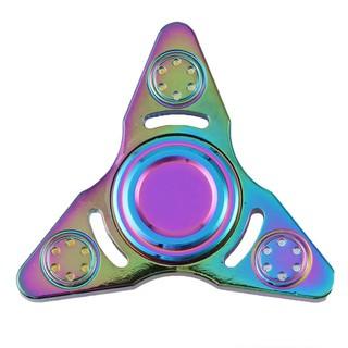 Con quay spinner kim loại 3 cạnh ánh màu cầu vồng yuyu