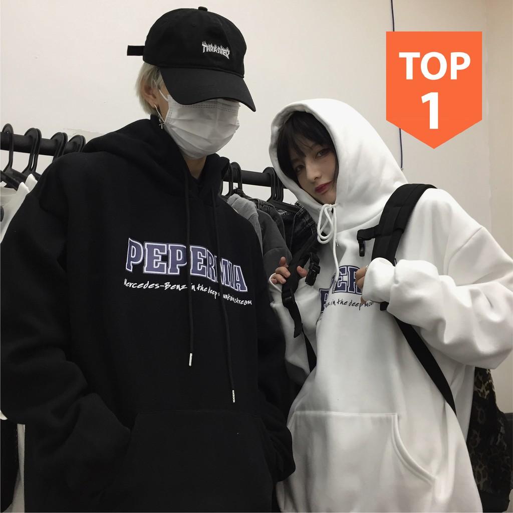 Áo hoodie nam nữ form rộng Unisex PEP siêu xinh PT5, Áo sweater nam nữ nỉ có mũ phong cách oversize streetwear