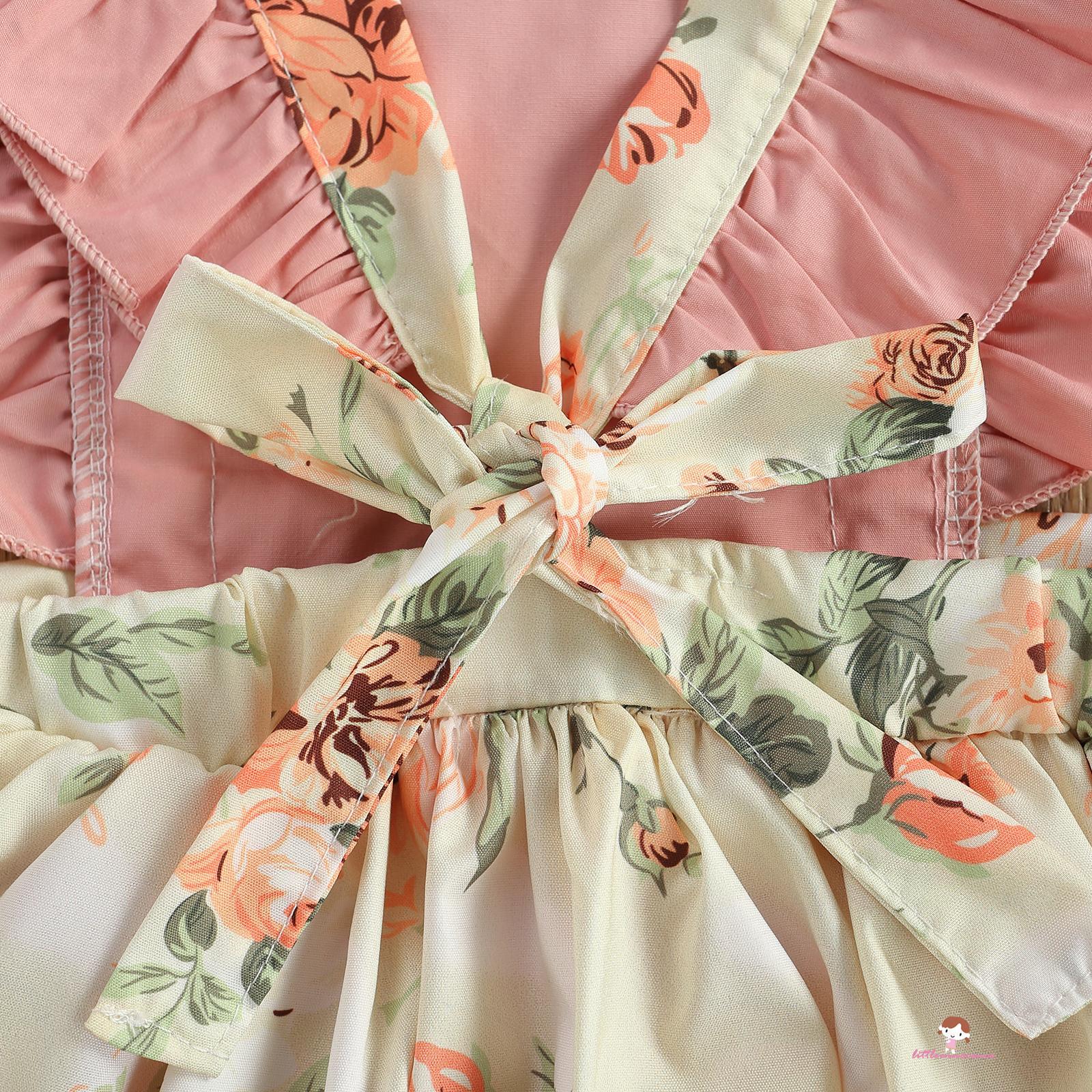 Đầm Tay Cánh Tiên Cổ Chữ U Cho Bé Gái 0-24 Tháng Tuổi