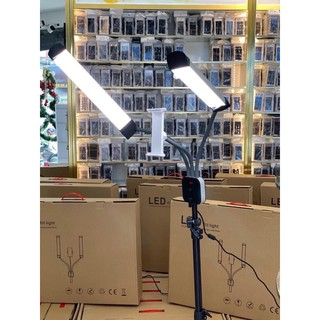 đèn 2 nhánh hổ trợ về Spa, Nối Mi, Phun Xăm, Thẩm Mỹ…. từ Da, Tóc, Móng, Đến Răng-đèn livetream