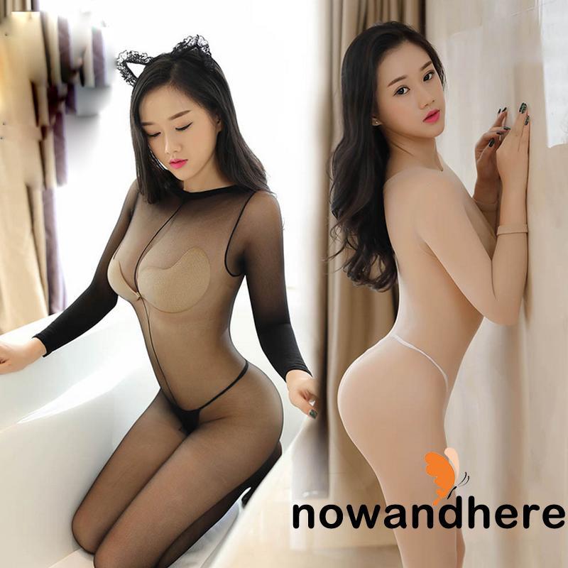NVO-Women Bodystocking Shiny Sheer Glossy Tights Pantyhose Sexy Lingerie