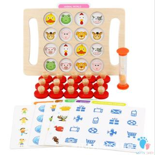 Wooden Board Toy Early Learning Interactive Brain Wooden Board Games