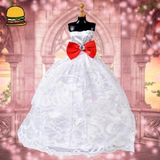 5pcs/Set Doll Wedding Dress Clothes Set Formal Tube Top Dress Evening Long Dress Set for 30cm Dolls