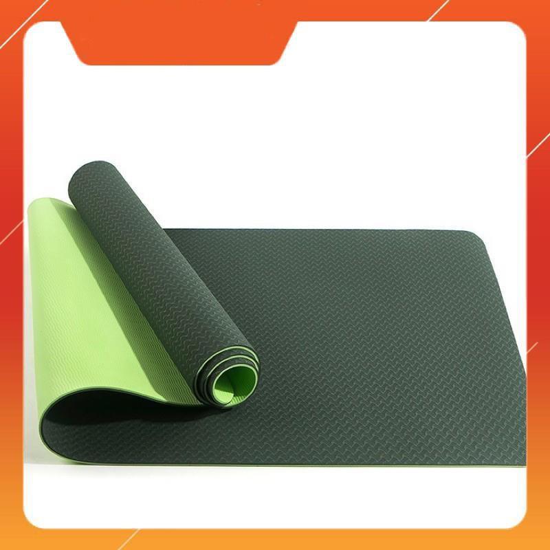 Thảm tập yoga, tập gym 2 lớp 6mm chống trơn trượt cao cấp siêu bền siêu đẹp