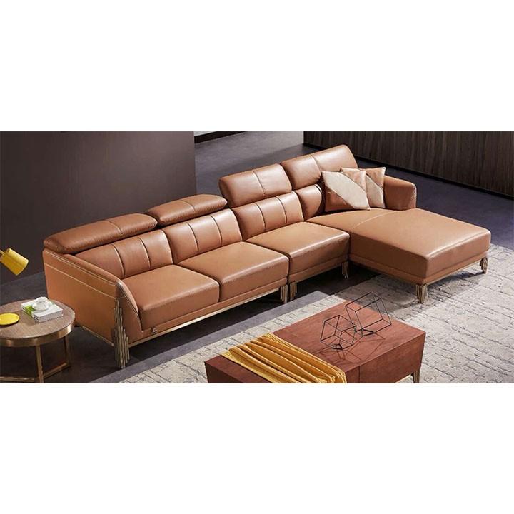 Ghế sofa góc da thật nhập khẩu HFC-GSF182-32 ca