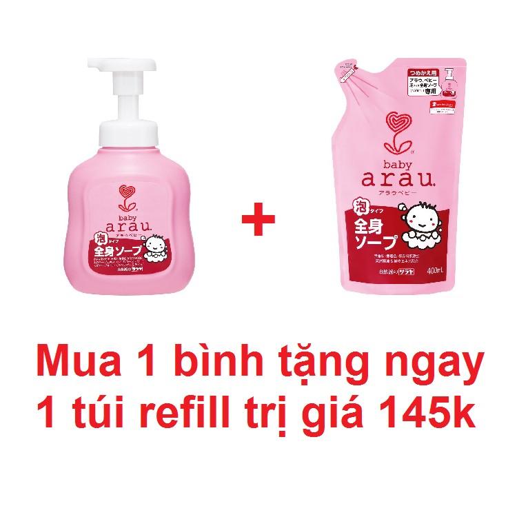 Set Sữa tắm trẻ em Arau baby bình 450ml + túi thay thế 400ml - 2505074 , 283362636 , 322_283362636 , 210000 , Set-Sua-tam-tre-em-Arau-baby-binh-450ml-tui-thay-the-400ml-322_283362636 , shopee.vn , Set Sữa tắm trẻ em Arau baby bình 450ml + túi thay thế 400ml
