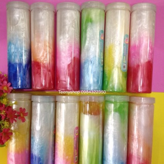 Slime 7 sắc càu vòing, slime thạch , slime trong hũ lớ 500 ml