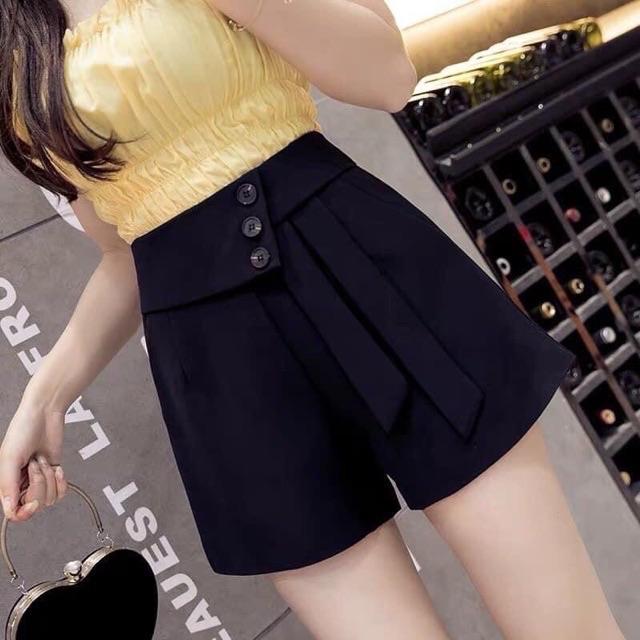 ✅Quần shorts nữ 3khuy cách điệu