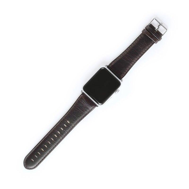 Dây Đeo Bằng Da Thật 44mm 40mm Series 6 / 5 / 4 / 3 / 2 / 1 / Se Dành Cho Đồng Hồ Apple Watch 42mm 38mm