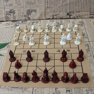 Vintage Chinese Terra Cotta Warriors Chess Game Collectibles Entertainment Gifts