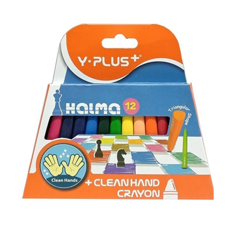 Bút sáp không bẩn tay 12 màu HALMA YPLUS/CR1503