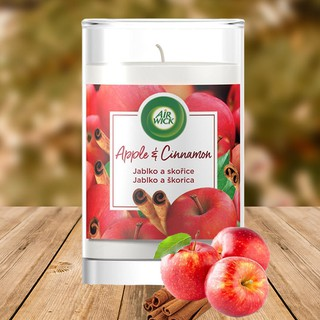 Ly nến thơm tinh dầu Air Wick Apple Cinnamon 310g XXL HƯỚNG TÁO QUẾ