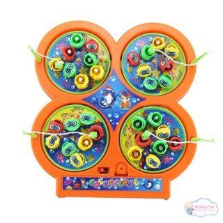 Novelty Toddler Electric Rotating Magnetic Magnet Fish Kids Educational Toy Go Fishing Game Gift
