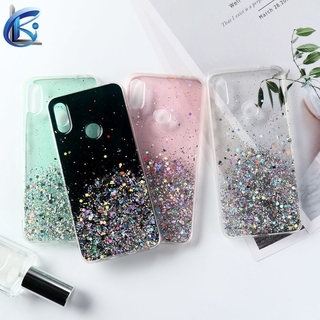 Glitter Bling Clear Shockproof Phone Case For OPPO A3S A5S A12 E A5 A9 2020 Realme 5 6 7 Pro 5i 6i 7i