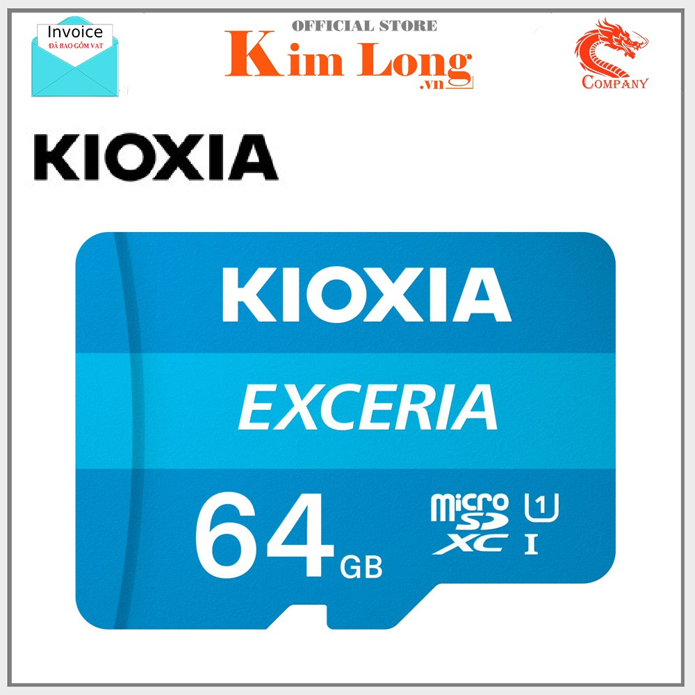 Thẻ nhớ Kioxia (Toshiba) Micro SDHC 64GB Class 10 UHS-I 100MB/s hàng FPT