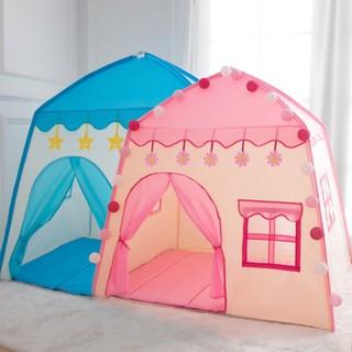 [ ⭐⭐⭐ Hỗ trợ Ship ⭐⭐⭐ ] Lều chơi cho bé có cửa sổ màu hồng – Lều màu hồng