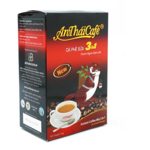Cà phê sữa 3 in 1 An Thái 16 gói*16g