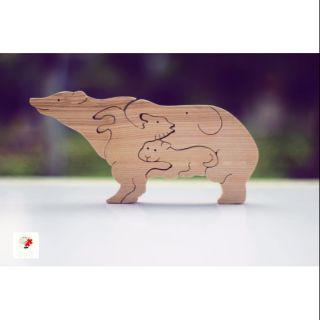 Lego – tranh ghép gỗ an toàn cho bé – 4 loại thú trong 1