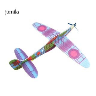 JUL DIY Hand Throw Flying Glider Plane Plastic Aeroplane Kids Children Toy Gift