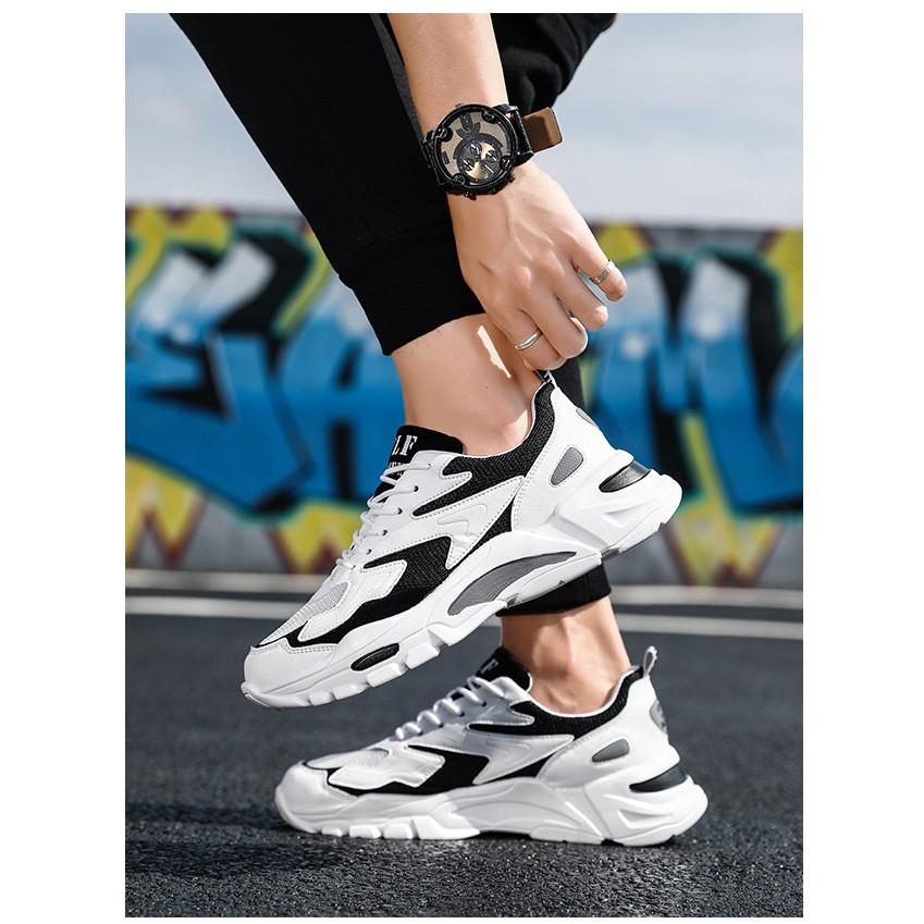 Giày thể thao nam đế tăng chiều cao kiểu dáng hiện đại trẻ trung năng động