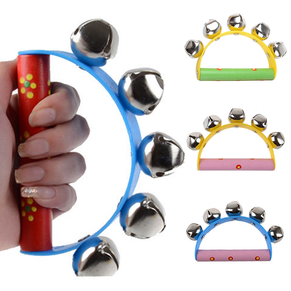 Little Hand Held Bell Metal Jingles Ball Percussion Musical Toy Kid Children Gift Wholesale Retail