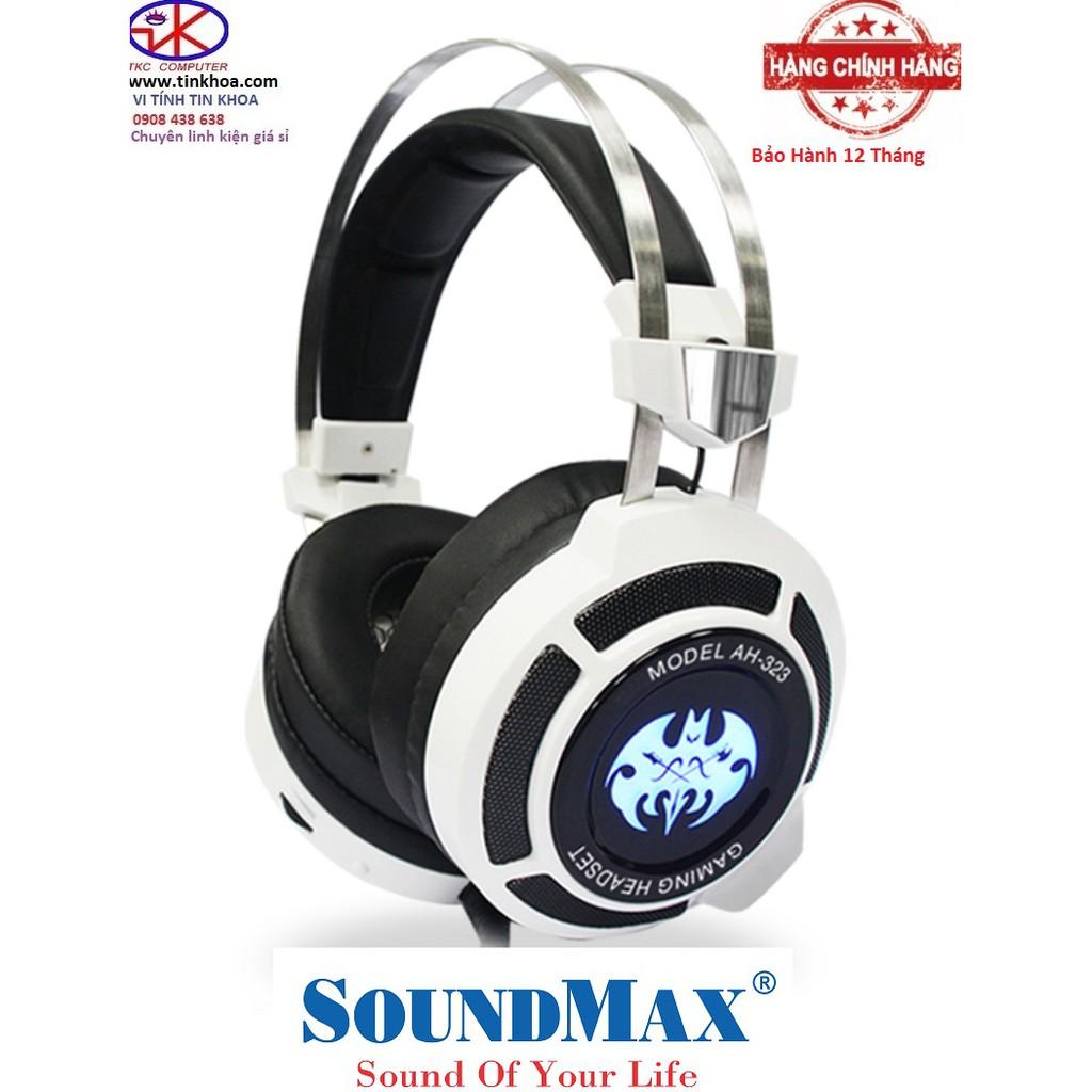 BH 12 tháng Tai nghe gaming Soundmax AH-323 có mic Chính Hãng Phân Phối
