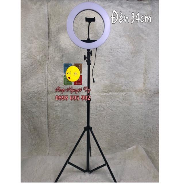 Đèn live stream bán hàng đèn make up chụp hình chuyên nghiệp size đèn 34cm