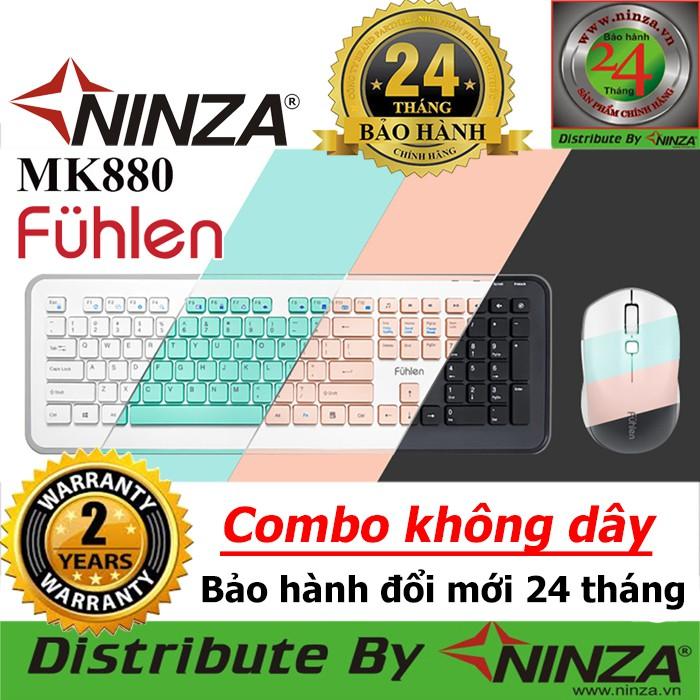 [Bảo hành Toàn Quốc 24 tháng] Bộ phím chuột không dây Fuhlen MK880 Chính hãng Ninza phân phối