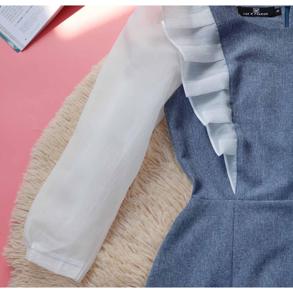 Mặc gì đẹp: Sang trọng với Đầm công sở nữ thiết kế dễ thương tay lỡ che bụng mỡ mềm mát may sắc nét (thời trang công sở dạo phố)