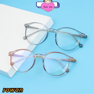 ROW Fashion Computer Goggles Vision Care Ultralight Eyeglasses Anti Blue Rays Unisex Radiation Protection Transparent Frame Flat Mirror Eyewear/Multicolor