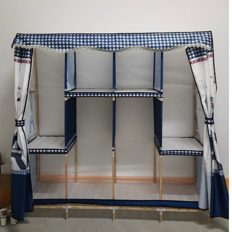 Tủ Quần Áo Vải Kệ Tủ Vải Đựng Quần Khung Gỗ 4 Buồng 8 Ngăn Cao Cấp Bảo Hành 12 Tháng 1 Đổi 1 Toàn Quốc tuvaicaocapvn