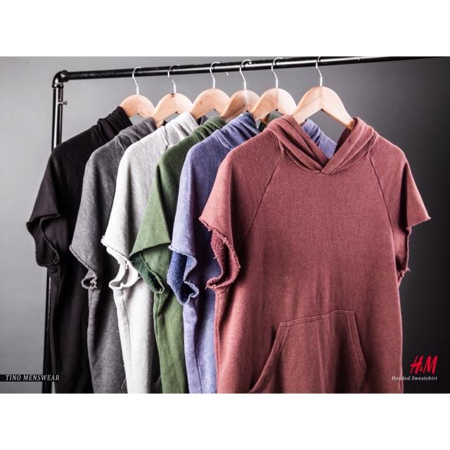 Áo nỉ hoodie cộc tay cực chất H&M (SALE 70%)