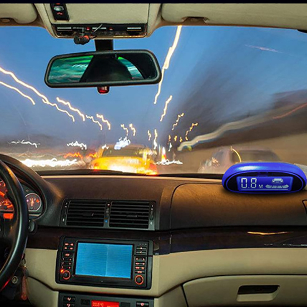 Reverse Assist LED Display Auto Easy Install With 4 Sensors Buzzer Detector System Parking Sensor