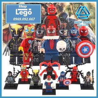Xếp hình Symbiote Iron Man - Venom - Wolverine - Spider-Man - Deadpool Lego Minifigures WM6044 thumbnail