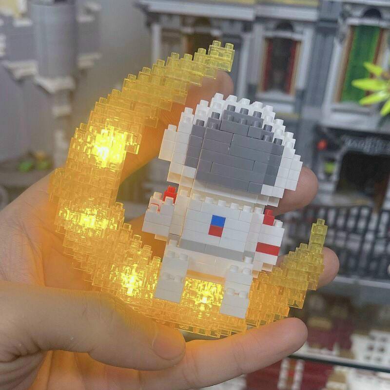 Lego nano 3D mô hình lắp ghép đồ chơi lego phi hành gia có đèn led sáng tạo trẻ em, 340 chi tiết,quà tặng sinh nhậ cho b
