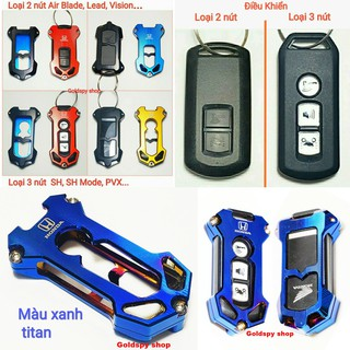 Yêu ThíchỐp chìa khóa CNC Smartkey Honda SH, SH MODE, PCX, LEAD, AIR BLADE, VISION... - Bao bọc chìa khóa HONDA SMARTKEY
