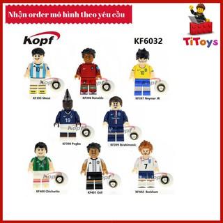 Minifigures các cầu thủ bóng đá messi ronaldo neymar pogba – Đồ chơi Lắp ghép Xếp hình Non Lego KF6032