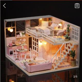 Mô Hình Nhà Gỗ DIY Gia đình yêu thương