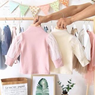 áo cotton len ren tay bồng
