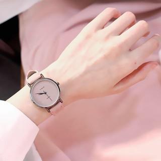 (Giá sỉ) Đồng hồ thời trang nữ Viser viền đen dây da