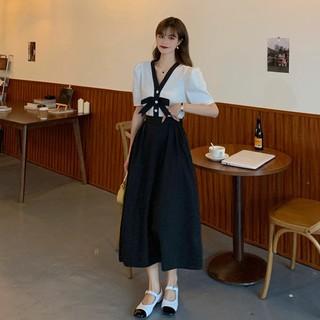 Black Skirt Female Long Section A Word Skirt Summer 2021 New Slim Small Child Long Skirt High Casteer Skirt