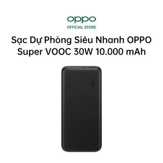 Pin Sạc Dự Phòng Siêu Nhanh OPPO Super VOOC 30W 10.000 mAh PBV02 1 USB Và 1 Type C Hàng Chính Hãng thumbnail