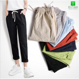 Sỉ Combo 10-20 chiếc quần vải đũi nữ hàng chất nhất Việt Nam