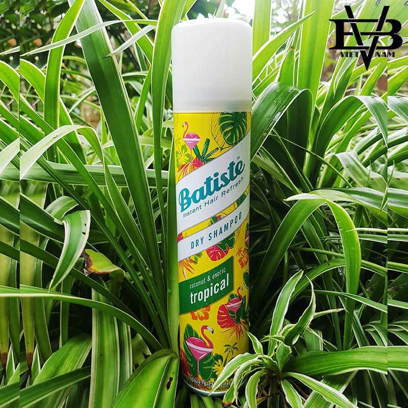 [CHÍNH HÃNG] Dầu gội khô Batiste 200ml, Batiste 50ml - Gội khô Anh chính hãng 100% UK + Tặng lược tạo kiểu tóc Chaoba