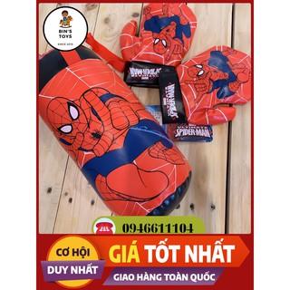 [BÁN CHẠY – CHẤT LƯỢNG] Bao găng tay đấm bốc cho bé trai năng động túi cát treo đồ chơi Spider-man chính hãng cho trẻ em