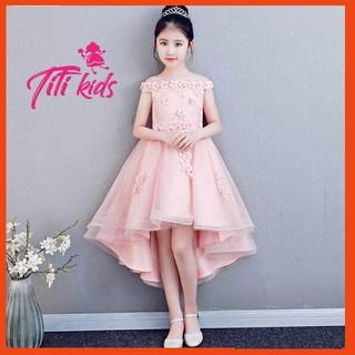 Váy công chúa✨Freeship✨Tặng cài nơ✨Đầm công chúa cho bé gái cao cấp hồng hoa đào sang trọng Titikids 2020 new