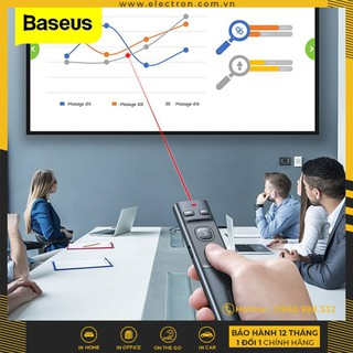 Bút Laser trình chiếu Baseus Orange Dot Wireless Presenter cho Laptop Macbook (100m. 2.4Ghz USB Type C Receiver) thumbnail